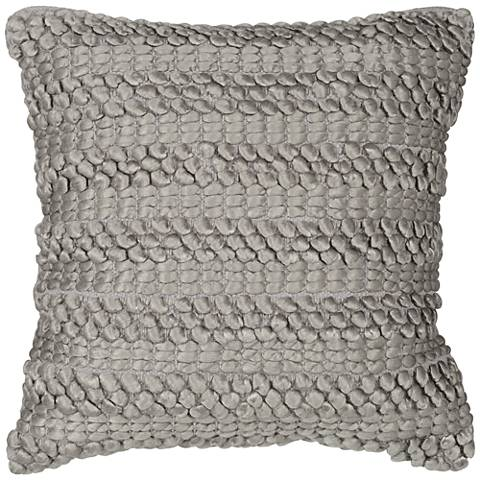 "Nourison Life Styles Silver Gray Ridge 20"" Square Pillow"