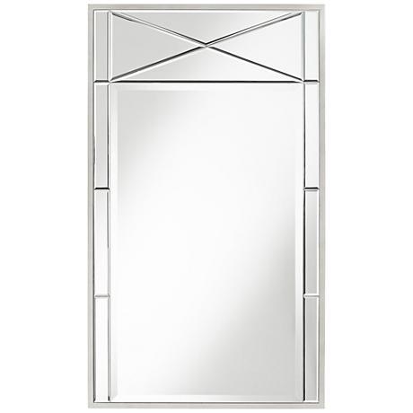 """Sibella X-Inlay 25 3/4"""" x 43 1/2"""" Wall Mirror"""