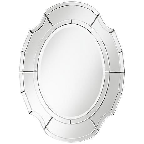 "Albany Scalloped 25"" x 34"" Oval Wall Mirror"