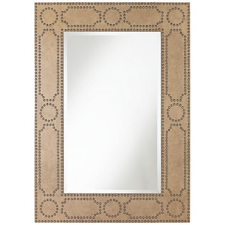 "Gideon Antique Light Brown 33 3/4"" x 47"" Wall Mirror"