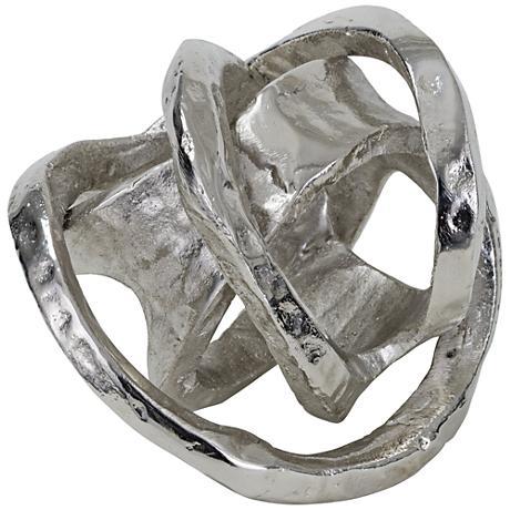 """Regina Andrew Design 7""""H Nickel Metal Knot Sculpture"""
