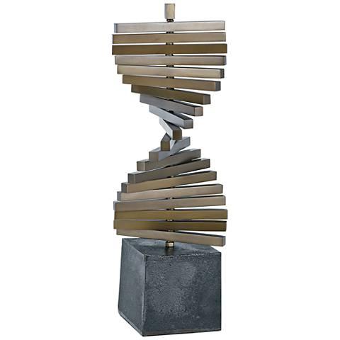 """Regina Andrew Design Revolution 17"""" Antique Brass Sculpture"""