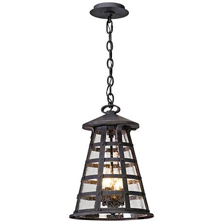 "Benjamin 17 3/4"" High Vintage Iron Outdoor Hanging Light"