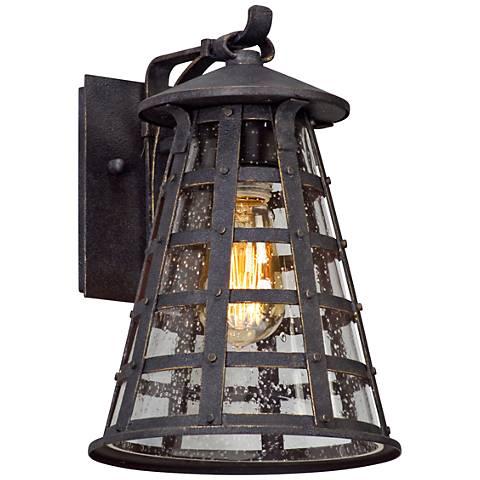 "Benjamin 11 1/2"" High Vintage Iron Outdoor Wall Light"