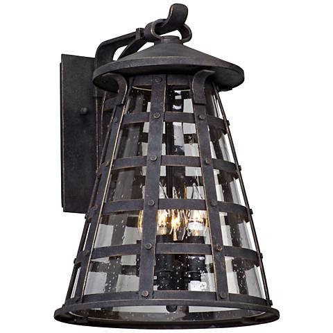 "Benjamin 17 3/4"" High Vintage Iron Outdoor Wall Light"