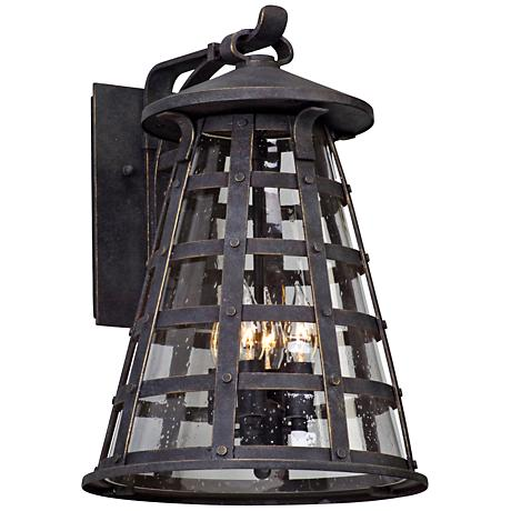 "Benjamin 17 3/4"" High Vintage Iron Outdoor Wall Light"