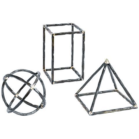Regina Andrew Design Geometric 3-Piece Metal Shapes Set
