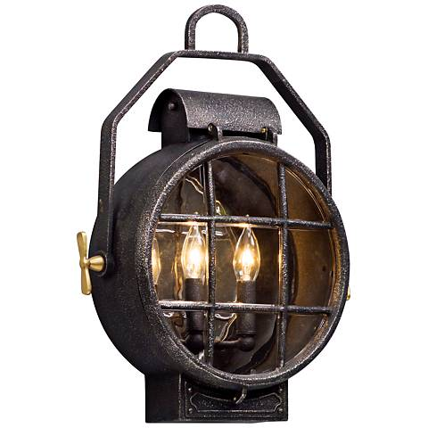 """Point Lookout 19 1/4"""" High Aged Silver Outdoor Wall Light"""