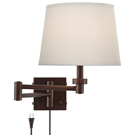 Wall Lamp With Usb : Vero Oil-Rubbed Bronze Plug-In Swing Arm Wall Lamp with USB - #9N313 Lamps Plus