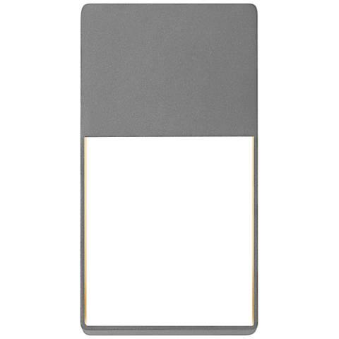 "Light Frames 13""H Textured Gray LED Outdoor Wall Light"