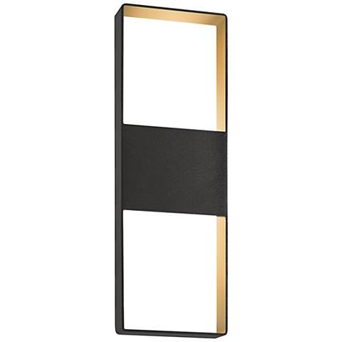 """Light Frames 21""""H Textured Bronze LED Outdoor Wall Light"""