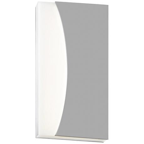 "Nami 14 1/4"" High Textured Gray LED Outdoor Wall Light"