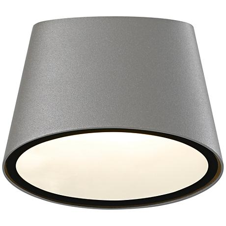 """Elips 5 1/4"""" High Textured Gray LED Outdoor Wall Light"""