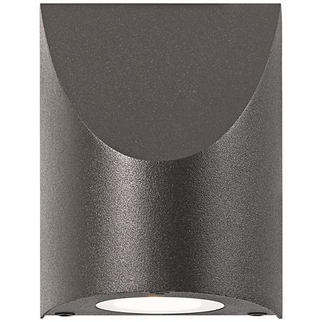 "Shear 4 3/4""H Textured Bronze LED Outdoor Wall Light"
