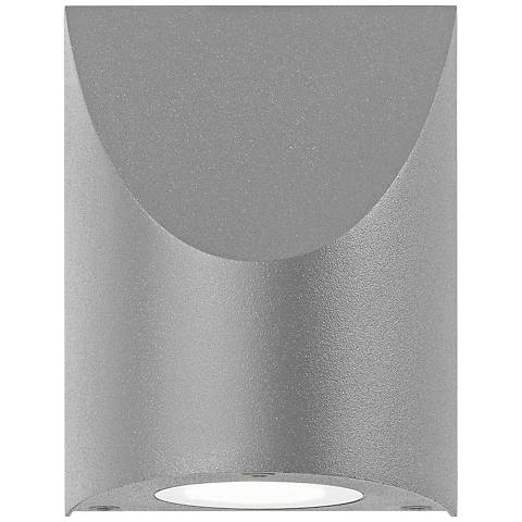 "Shear 4 3/4"" High Textured Gray LED Outdoor Wall Light"