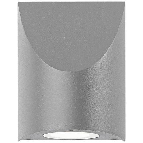"Shear 4 3/4"" High Textured Gray LED Outdoor Wall Light"