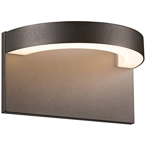 "Sonneman Cusp 5 1/4""H Textured Bronze LED Outdoor Wall Light"