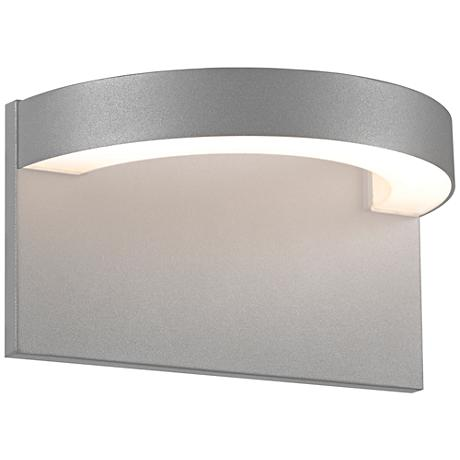 "Sonneman Cusp 5 1/4""H Textured Gray LED Outdoor Wall Light"