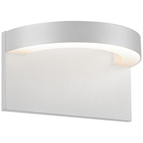 "Sonneman Cusp 5 1/4""H Textured White LED Outdoor Wall Light"