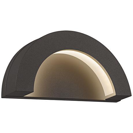 "Crest 4 3/4""H Textured Bronze LED Outdoor Wall Light"