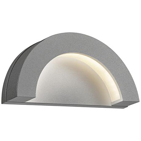 "Crest 4 3/4"" High Textured Gray LED Outdoor Wall Light"
