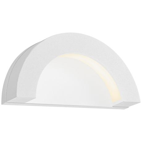 """Crest 4 3/4""""H Textured White LED Outdoor Wall Light"""