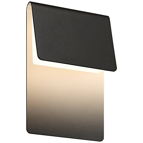 "Sonneman Ply 11""H Textured Bronze LED Outdoor Wall Light"