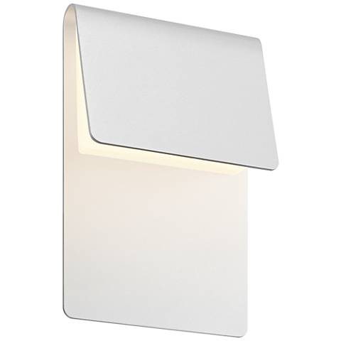 "Sonneman Ply 11""H Textured White LED Outdoor Wall Light"