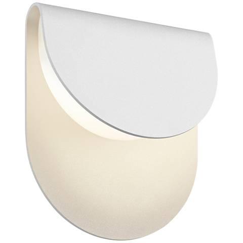 "Sonneman Cape 8""H Textured White LED Outdoor Wall Light"