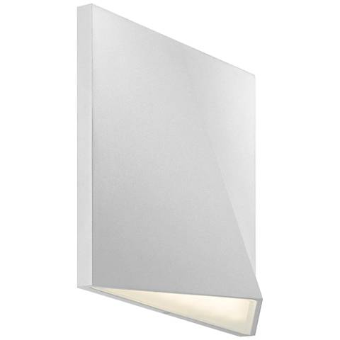 "Ridgeline 7 1/2""H Textured White LED Outdoor Wall Light"