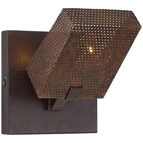 """Varaluz Gold Rush 6 3/4"""" High Rustic Bronze Wall Sconce"""