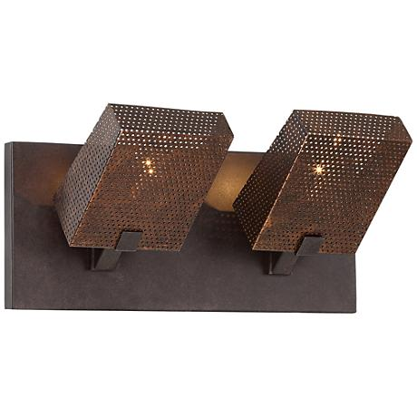 "Varaluz Gold Rush 14"" Wide Rustic Bronze Bath Light"
