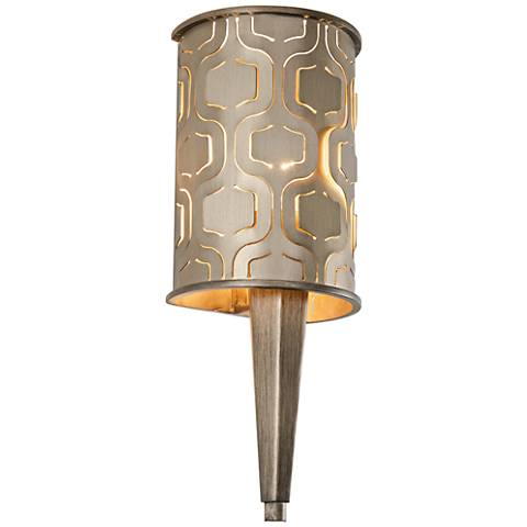 """Varaluz Iconic 18 1/2"""" High Champagne Mist Wall Sconce"""