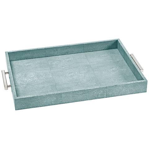 "Regina Andrew Design Turquoise 22 1/4""W Serving Tray"
