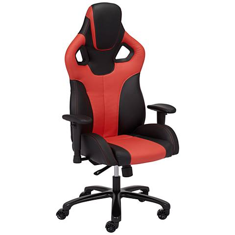 Matrix Red and Black Elastic Nylon Adjustable Gaming Chair