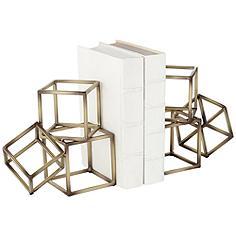 Tricube Metal Geometric Square Bookends
