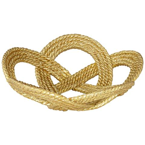 Small Gold Leaf Rope Bowl