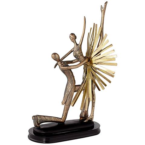 """14 1/2"""" High Abstract Dance Partners Sculpture"""