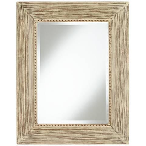 """Daryn Wood 30 3/4"""" x 38 3/4"""" Beveled Wall Mirror"""