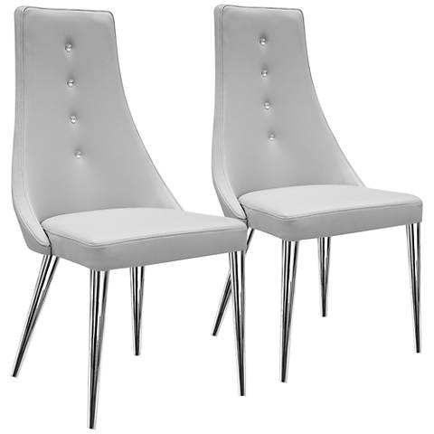 Palacio Taupe Faux Leather Dining Chair Set of 2
