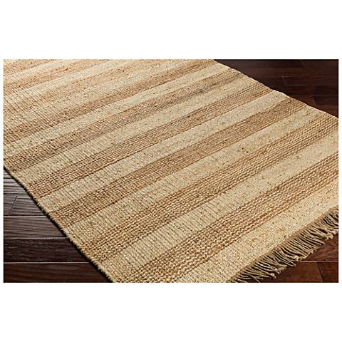 Surya Davidson Cream and Khaki Jute Area Rug