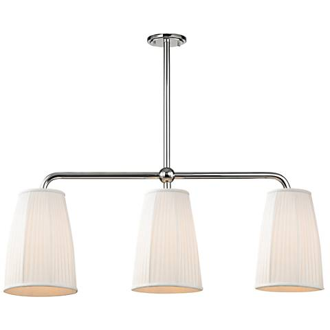"Malden 9 3/4"" Wide Polished Nickel Island Pendant"