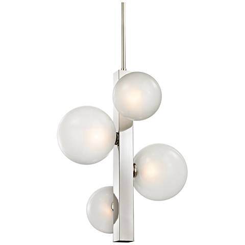 "Hinsdale 21 1/4"" Wide Polished Nickel Pendant Light"