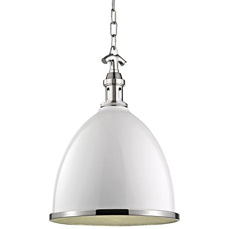 """Viceroy 12 3/4"""" Wide White and Polished Nickel Pendant Light"""