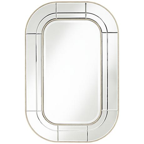 """Parksdale Beveled 31 1/2""""x 47 1/4"""" Silver Wall Mirror"""