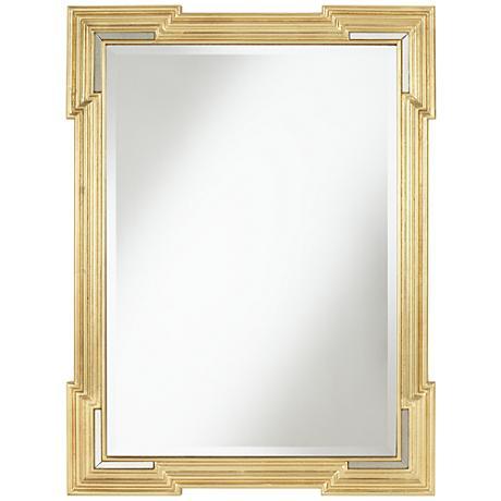 "Farrell Gold 30"" x 40"" Beveled Wall Mirror"