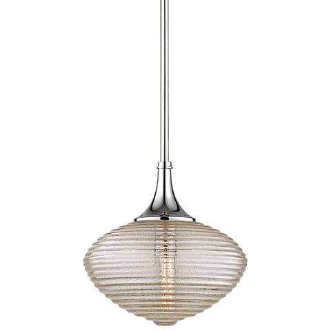 "Hudson Valley Knox 12"" Wide Polished Nickel Mini Pendant"