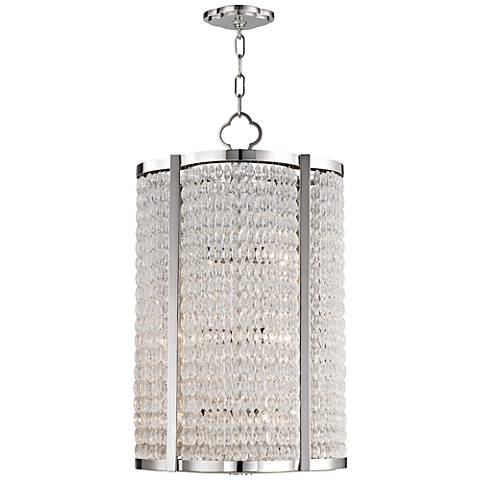 "Ballston 16"" Wide Polished Nickel Pendant Light"