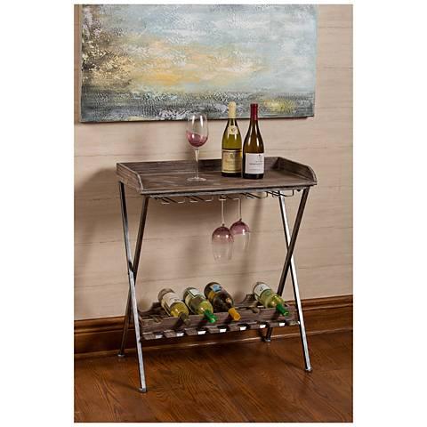 Cooper Classics Calistoga Aged Wood-Top Iron Wine Rack
