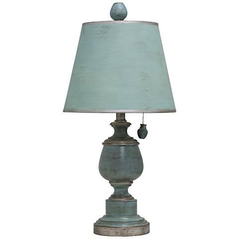 Palmer Antique Coastal Blue Painted Urn Table Lamp